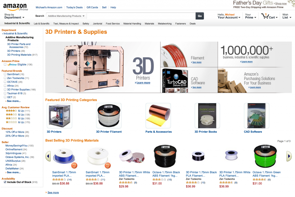 3D Printing Store from Amazon